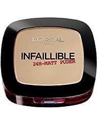 L'Oréal Paris Infaillible Puder, 160 Sand Beige / Kompaktpuder für das perfektes Finish & bis zu 24h Halt / Hautschonendes Powder für alle Hauttypen / 1 x 9 g