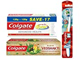 #9: Colgate Total Advanced Health Toothpaste - 240 g with Swarna Vedshakti Toothpaste - 100 g and 360 Whole Mouth Clean Toothbrush