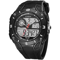 Men hiking waterproof outdoor waterproof sports watch digital watches LED function table