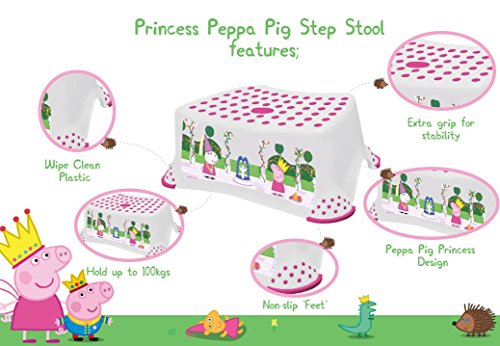 Image of Peppa Pig Step Stool with Non Slip Feet- Princess Peppa