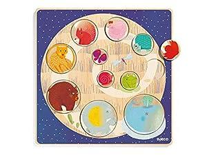 Djeco- RompecabezasPuzzles encajables y rompecabezasDJECOEncajable Ludi & co, Multicolor (15)