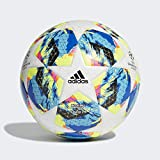 Adidas Finale TT J290, Pallone da Calcio Ragazzo, Top:White/Bright Cyan Yellow/Shock Pink Bottom:Collegiate Royal/Black/Solar Orange, 5