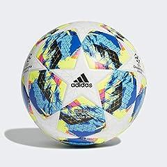 Idea Regalo - Adidas Finale TT J290, Pallone da Calcio Ragazzo, Top:White/Bright Cyan Yellow/Shock Pink Bottom:Collegiate Royal/Black/Solar Orange, 5