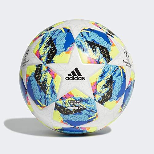 adidas Jungen Finale TT J290 Turnierbälle für Fußball, top:White/Bright Cyan/solar Yellow/Shock pink Bottom:Collegiate royal/Black/solar orange, 5