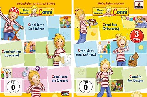 Meine Freundin Conni - 3 DVD Box 1+2 (Folgen 1-6) Starter Set - Deutsche Originalware [6 DVDs]