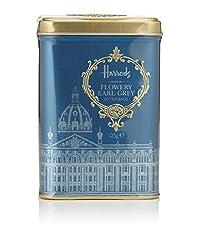 Harrods London. Gift Tin Caddy, Flowery Earl Grey, 50 Tea Bags 125g 4.4oz Gift Tin Caddy (1 Pack) Seller Product Id Febh0965