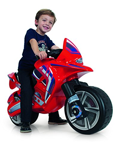 Injusa - Moto correpasillos Hawk para niños de más de 3 años, rojo