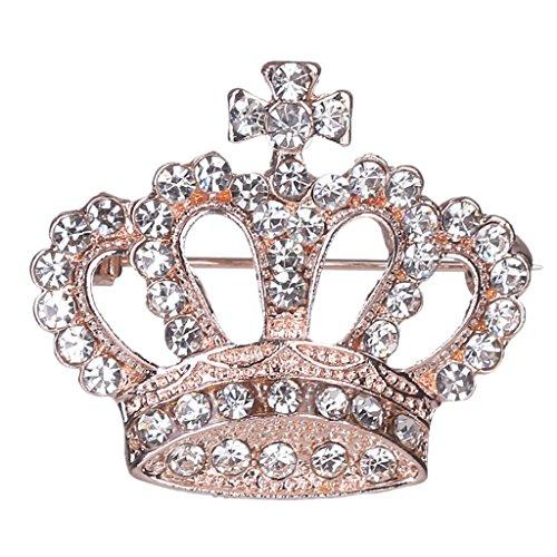 Brosche Pin Crown Design Breastpin Vintage Hochzeitsgeschenk(1Stück) ()