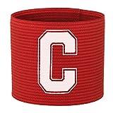 Brazalete de capitán de fútbol, de 55 Sport, para adultos y niños, color rojo, tamaño adulto