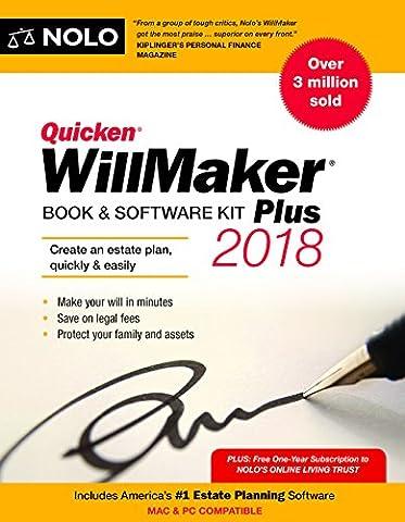 Quicken Willmaker Plus 2018: Book & Software Kit