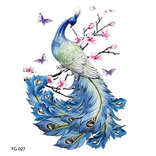 Glitter kleine frische Persönlichkeit Traum Schmetterling Pfau Tattoo Sticker Multicolor -