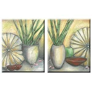 Elegant Arts & Frames Set of 2 Stretched Canvas Art 20 x 16