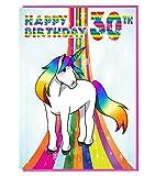 Magical Einhorn 30. Geburtstag–Damen–Tochter–Geburtstagskarte für Enkelin–Schwester–Freund