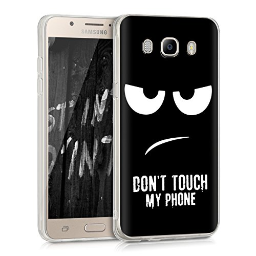 kwmobile Crystal Case Hülle für > Samsung Galaxy J5 (Version 2016) DUOS < - TPU Silikon Cover im Don't touch my Phone Design
