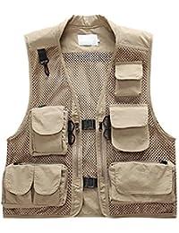 78fe9e0a3e8b1c semen Outdoor Weste Safari praktischen Reißverschluss Multi-Tasche Netz  Breathable Camping Jagd Fischen Fotografie