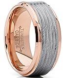 Best Metal Masters Wedding Rings - Metal Masters Co. Rose Tone Tungsten Carbide Wedding Review