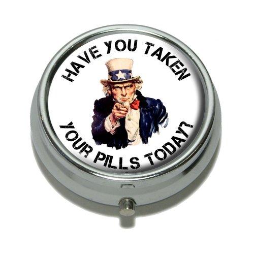 Haben Sie Ihre Tabletten eingenommen Heute–Uncle Sam Pille Fall Schmuckkästchen Geschenk-Box (Gehäuse-deckel Aufklappbaren)