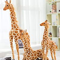 ATA19 - Stuffed Animals - Giant size Giraffe Plush Toys Cute Stuffed Animal Soft Giraffe Doll Birthday Gift Kids Toy