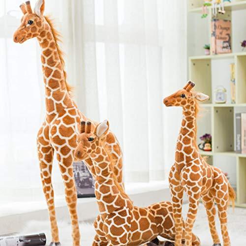 Taille géante Girafe en Peluche Jouets Mignon Animal en Peluche Doux Girafe Poupée Anniversaire Cadeau Enfants Jouet 1 m