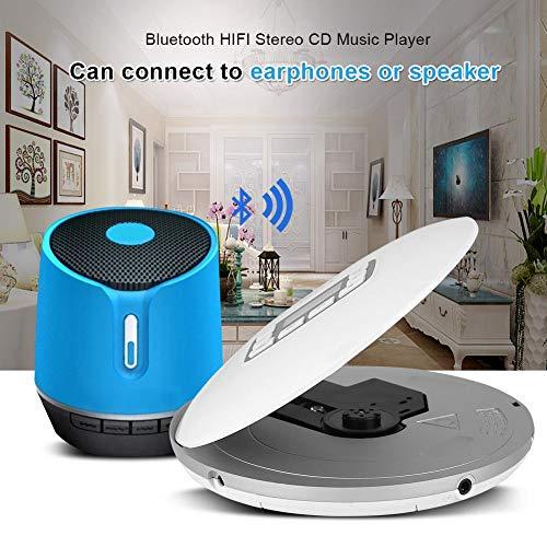 Richer-R Lecteur CD avec Sortie Audio de Haute qualité, Portable Antichoc Bluetooth HiFi stéréo Lecteur de Musique CD avec écouteurs EU Plug... 5
