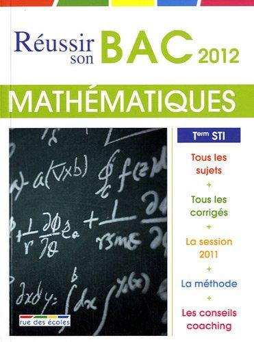 Mathématiques Tle STI