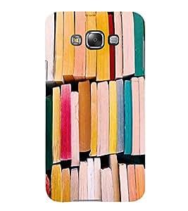 PrintVisa Books Pattern 3D Hard Polycarbonate Designer Back Case Cover for Samsung Galaxy E7