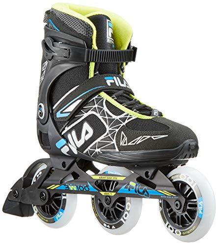 Fila Herren Legacy PRO 100 Inline Skate, schwarz/blau/Lime, 6
