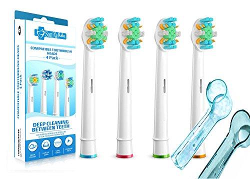 lot de 4 recharges pour brosse a dents oral B FlossAction compatible