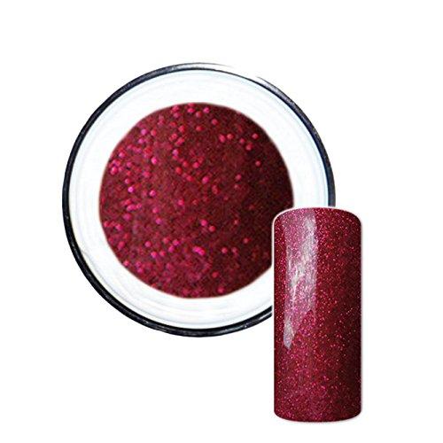 Glitzergel Farbgel Glitter UV-Gel No. 6 rot 5ml