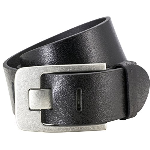 Lindenmann Mens Leather Belt/Mens Belt full grain leather black
