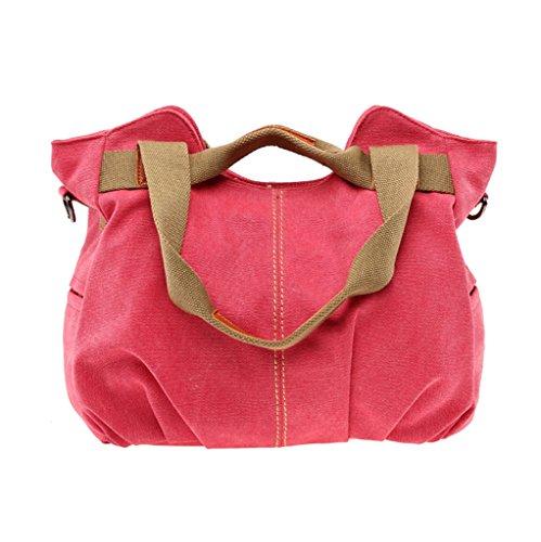 Supa Moden donna tela borsetta borsa a tracolla Hobo borse borsa a tracolla, donna, Dark Blue Red