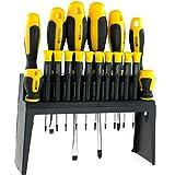 18 Tlg. Schraubendreher Schraubenzieher Set Satz Werkzeugset Werkzeugbox