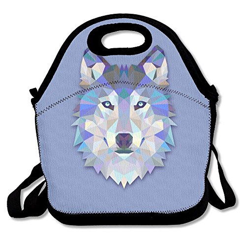 fengxutongxue 3D Wolf Printing Lunch Bags Insulated Zip Cooler Bag Portable Takeaway Film Pack Cooler Bag Lunch Box Package Picnic Outdoor Travel Fashionable Handbag Pouch for Women Men Kids Girls Rubbermaid Ice Pack