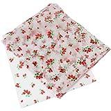 PsmGoods 100 piezas de papel de cera para la torta de pan Envoltura antiadherente Strawberry Type