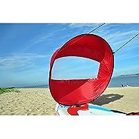 Wuudi Kayak Sail, Canoa Fuente Accesorio Kayak Especial Durable Spinnaker 42 Pulgadas Profesional Kayak Sail, Rojo, 42.5 Inch