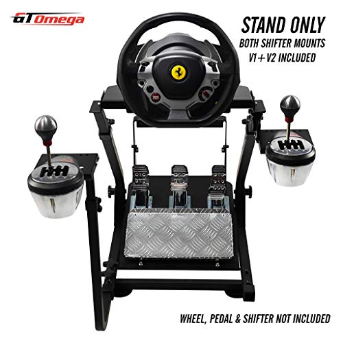 GT Omega Support de Volant pour Thrustmaster T150 Force Feedback Racing Wheel PS4 et pédales, prise en charge de TX, Xbox, Fanatec - Pliable et inclinable pour la console de course ultime