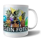 Tasse mit Foto Bedrucken Lassen | Fototasse selbst gestalten mit individuellem Bild und Text | Geschenk-Idee für Opa, Oma, Papa, Mama u.v.m.