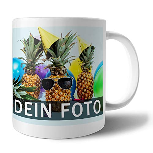 Tasse mit Foto Bedrucken Lassen | Fototasse selbst gestalten mit individuellem Foto und Text | Geschenk-Idee für Opa, Oma, Papa, Mama u.v.m.