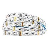 BTF-LIGHTING 16.4ft 5M 5050 RGBW 4 in 1 RGB+Blanco...