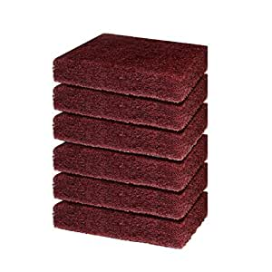 Cello Heavy Duty Kleeno Scrub Pad (Brown, Pack of 6)