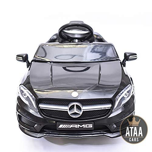 ATAA Mercedes GLA Coche eléctrico para niños batería 12v con Mando Padres teledirigido - Negro