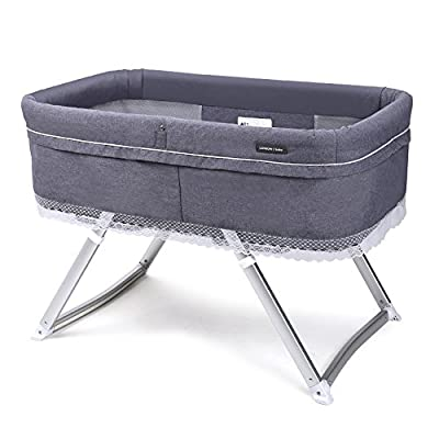 Brisk- Crib Multifunction Continental Portable Travel Cradle Bed Ultralight Foldable Bed (Color : Magic Grey)