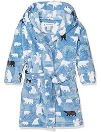 Hatley Lbh Kids Fleece Robe-Blue Bears, Hauts de Pyjama Garçon