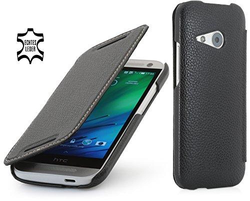StilGut Book Type Case, Hülle aus Leder für HTC One mini 2, schwarz