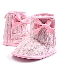 TININNA Invierno Cálido Botas Zapatos de forro polar Para Bebé Niños Niñas Mantenga Cálida Nieve Suave Suela Botas de Cuna Suave Zapatos -Rosado