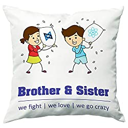 PPD Rakhi gift for sister and brother Rakhi gift for brother gift for sister rakhi gift rakshabandhan gift ideas online send rakhi gifts to india personalized gifts online customized present happy birthday gift for brother birthday gift for sister 12 x 12 cushion cover with filler