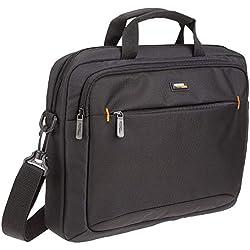 """AmazonBasics Sacoche à bandoulière pour tablette et ordinateur portable 14"""" (35,6 cm) noire - Idéale pour MacBook, 1 pièce"""