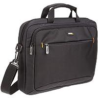 AmazonBasics Laptop-, Macbook- und Tablet-Schultertasche, für Laptops bis zu 14 Zoll (35,6 cm), Schwarz, 1 Stück