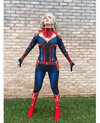 TOYSSKYR Sorpresa Capitan Costume Cosplay Donna Adulto Halloween Anime Avengers Movie Costume Puntelli (colore : Blu, dimensioni : M)