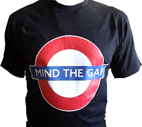 London Underground - Mind The Gap T-Shirt (Schwarz) (XXL)